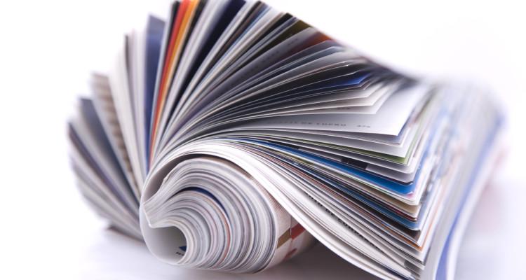 Magazine Roll isolated on white